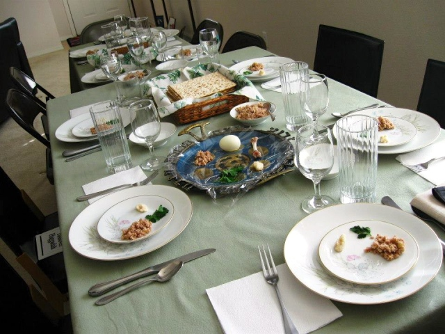 Table set in beautiful simplicity